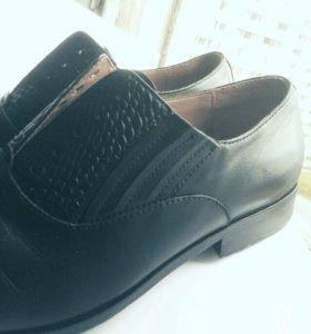 Туфли оригинальные Hugo Boss (кожа крокодила)