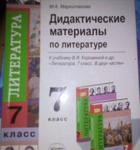 Дидактические материалы пл литературе 7класс