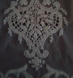 Ручная вышивка бисром на платьях