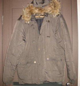 Куртка зимняя с опушкой р.50-52