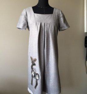 Шерстяное платье нарядное