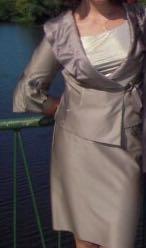 Костюм тройка, юбочный