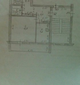 Двухкомнатная квартира, в п. Приокский