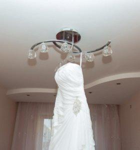Свадебное платье Габбиано с фатой туфли аксессуары