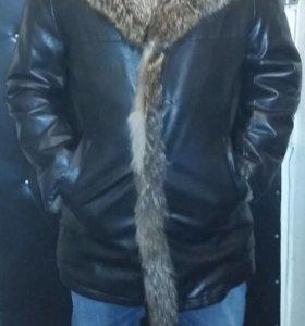 Куртка новая мужская из натуральной кожи на меху