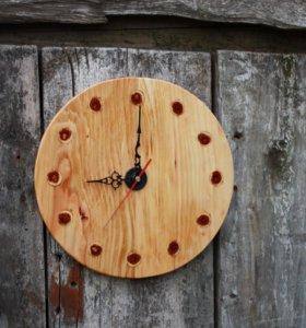 Настенные часы из дерева 4 вида