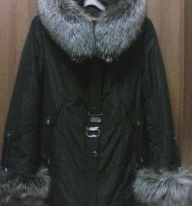 Куртка зимняя натуральная подкладка из меха,