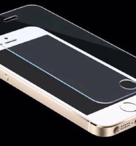 Стекло защитное на iPhone 4,5,6,7,6s,7s, galaxy