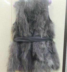 Меховой жилет, натуральный мех р44