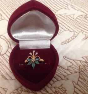 Золотое кольцо (изумруды, бриллианты)