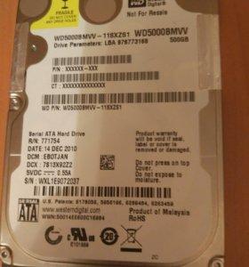 Usb hdd wd 500 gb, требует ремонта.