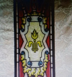 🚪Дизайнерское панно с росписью мозаикой по стеклу