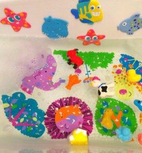 Игрушки для ванны на присосках (миниковрики)