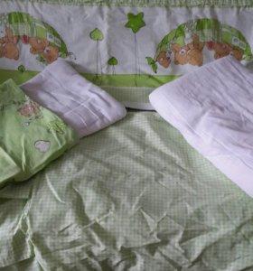 Комплект из 5 вещей в кроватку