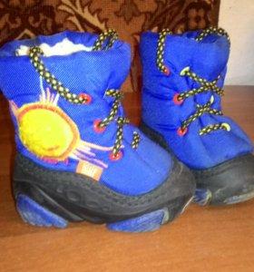 Зимние ботиночки,очень удобные. Размер 20-21