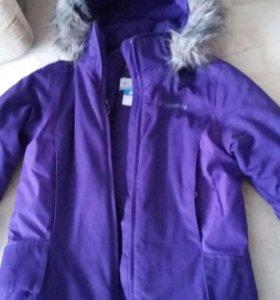 Зимняя куртка на девочку 122-128рост