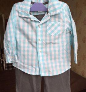 Рубашка, брюки Carters 18мес