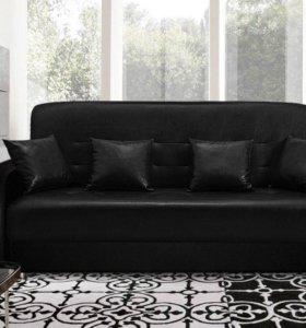 Черный диван Аккорд