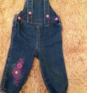 Комбинезон джинсовый детский на девочку.