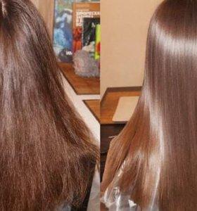 Выпрямление волос ( разглаживающая сыворотка)