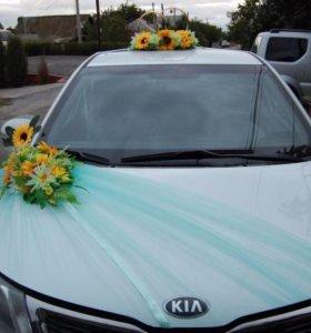 Свадебные украшения на машину. Прокат