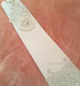Новые свадебные перчатки митенки