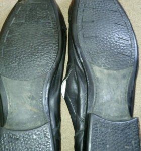 Мужские кожаные туфли классика 50размер