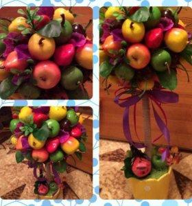Топиарии фруктовые и цветочные