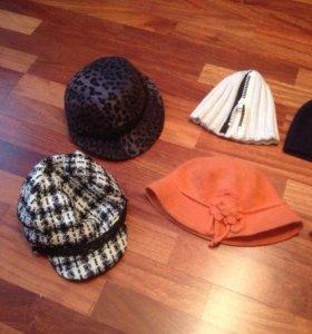 Распродажа шапки, шляпки, кепки новые