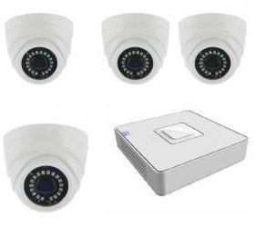Комлект на 4 ip камеры