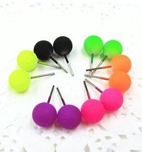 Яркие сережки