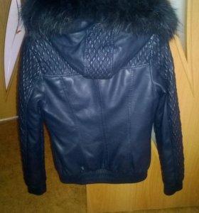 Кожанная куртка осень/зима