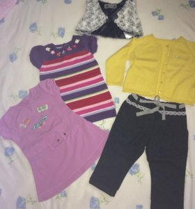 Вещи для девочки 1-2 лет