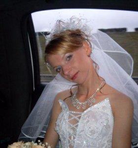 Свадебное платье 40-44 практически даром