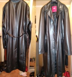 Пальто женское имитация кожи