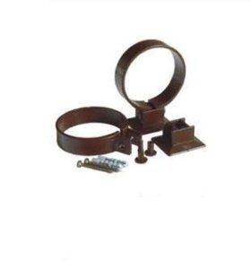 Хомут для трубы ПВХ коричневый 90мм Plastmo