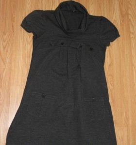 Платье-туника темно-серая