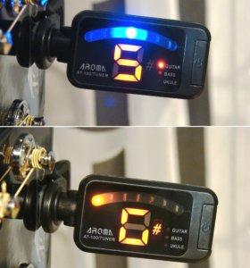 Тюнеры гитарные Aroma AT-100 и AT-200D