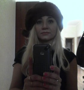 Норковая шапка и варежки