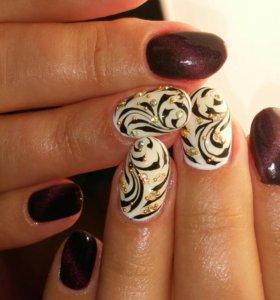Нарашиванние ногтей. Гель