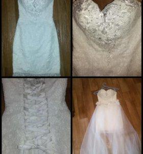 Эфектное свадебное платье
