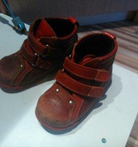 Осенние ботиночки, утепленные Котофей