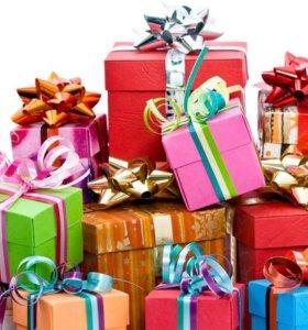 Яркая, праздничная упаковка подарков