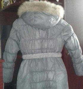 Пальто зимнее на девочку рост 140 см