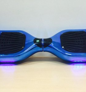 Гироскутер синий, с подсветкой, 6.5 дюймовый