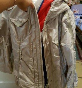 Куртка бежевая зимняя