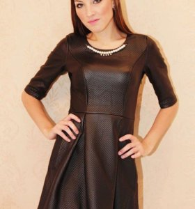 Платье . ЭКО кожа
