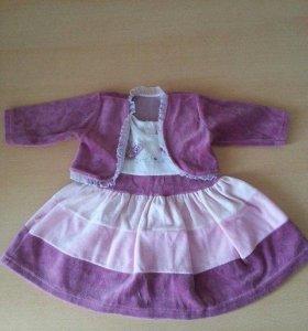 Продам красивые платья на малышку 62-68 размера
