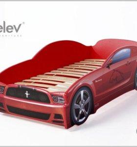 Кровать-машина Мустанг (цвет красный)