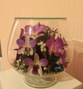 Цветы в стекле не вянут 5 лет